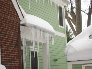 Icicles on Green House